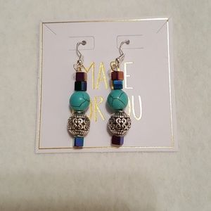 Handmade Semi Pecious Stone Earrings